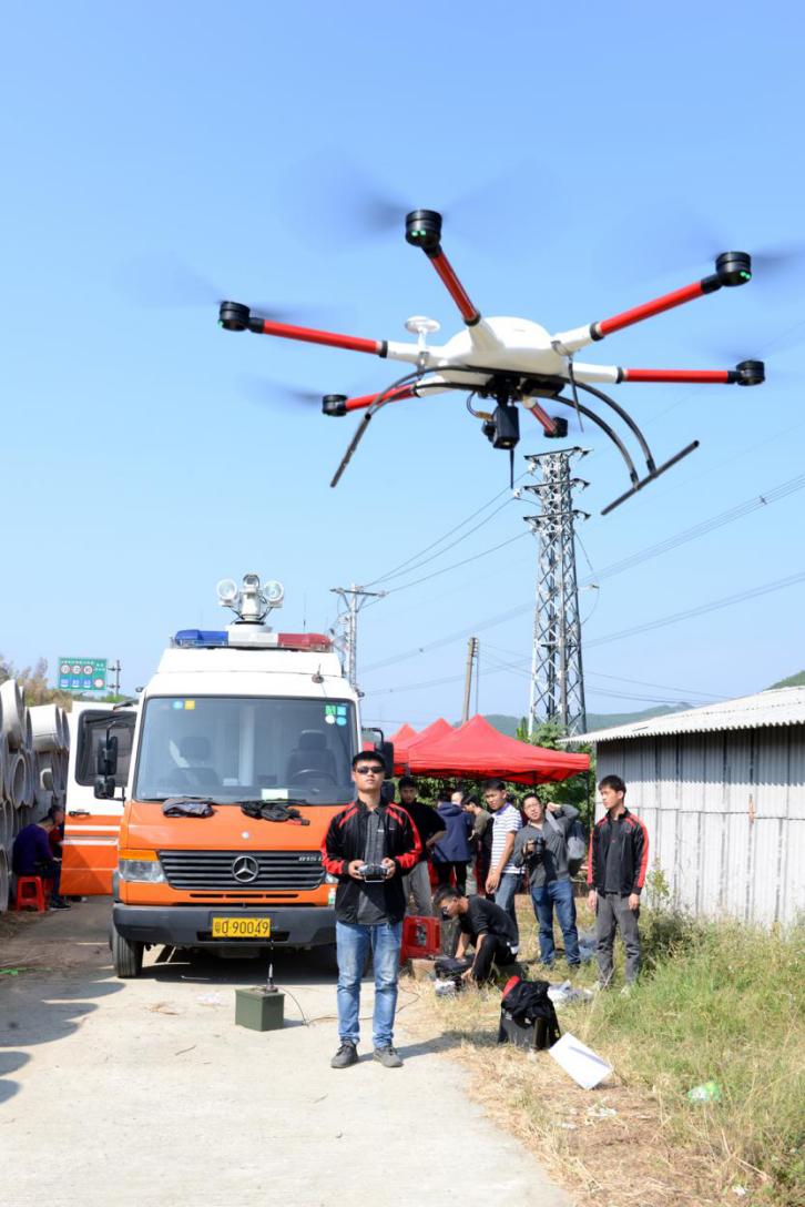 无人机现场监测火情并实时传输视频到省应急管理厅指挥中心.png